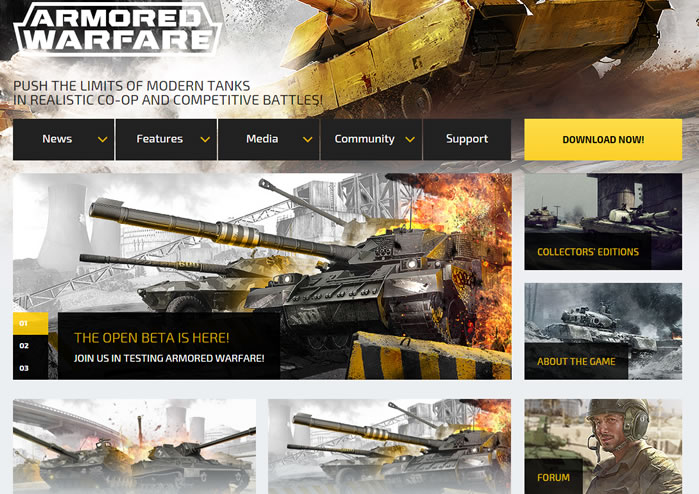 Armored Warfare Official website