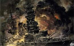 戦艦扶桑 炎上中 サムネイル