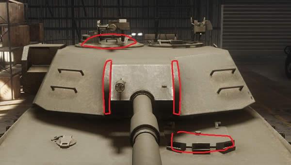 Armored Warfare XM1正面弱点
