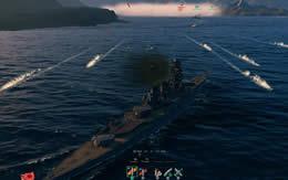 WoWS 戦艦と魚雷とスモーク サムネイル