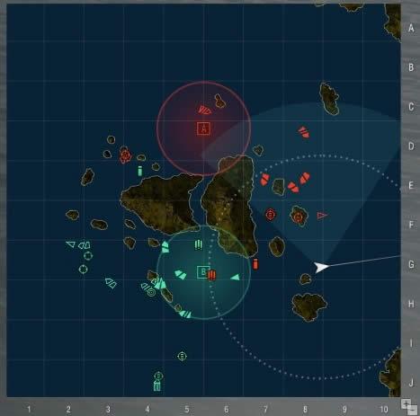 WoWS マップ 多数の艦隊