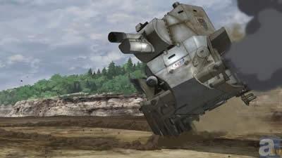 ガールズ&パンツァー 継続高校 BT-42 履帯なし 片輪走行