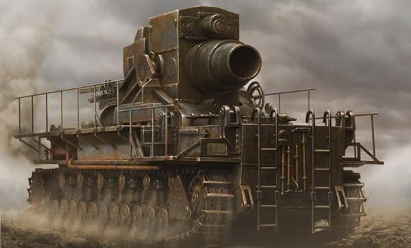ドイツ カール自走臼砲 イラスト