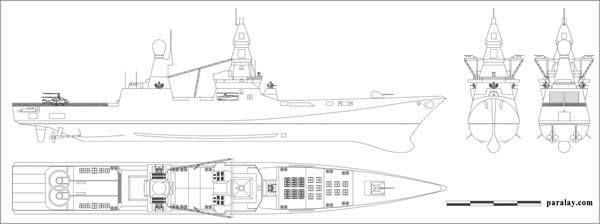 ロシア 駆逐艦プロジェクト23560E「シクヴァル」 002