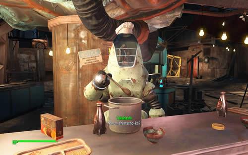 Fallout4 TAKAHASHI のんきに飯を作ってる
