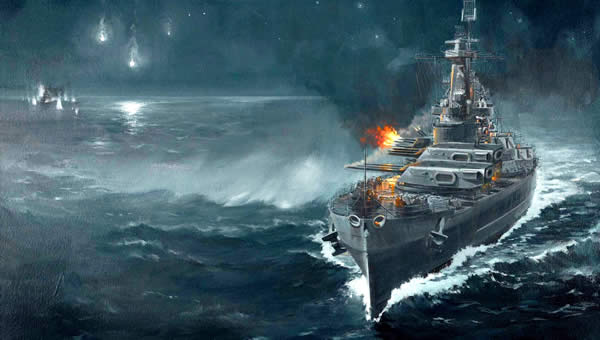WoWS 戦艦砲撃 イラスト