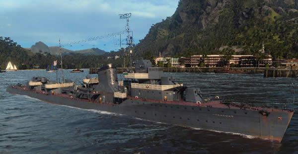 WoWS ソ連 Tier5 課金駆逐艦 グレミャーシチイ