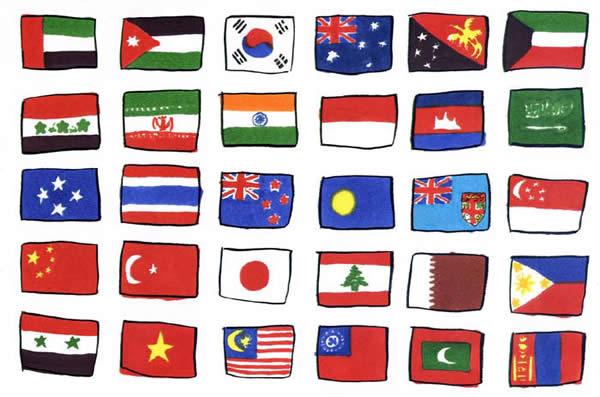 国旗 アジア編