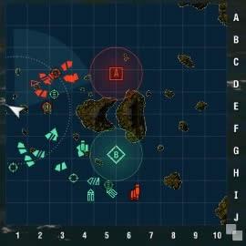 WoWS マップ 片側に戦力が集中
