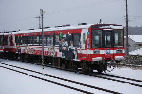 ガールズ&パンツァー デコ 列車 大洗雪景色