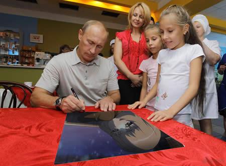 ガールズ&パンツァー カチューシャを描くプーチン大統領