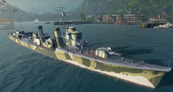WoWS  吹雪 日本 Tier8 駆逐艦 新迷彩