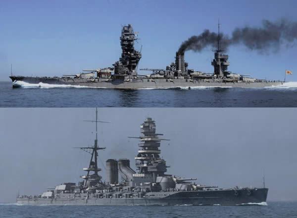 日本戦艦 長門と扶桑