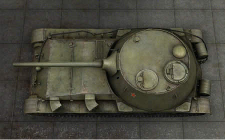 WoT ソ連 Tier8 中戦車 Object 416 俯瞰画像