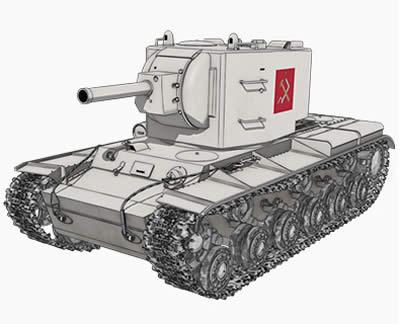 ガールズ&パンツァー プラウダ高校 重戦車 KV-2