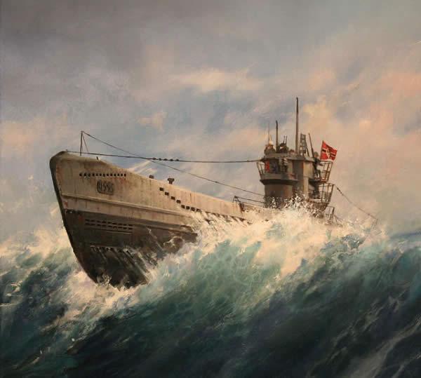 イラスト ドイツ Uボート