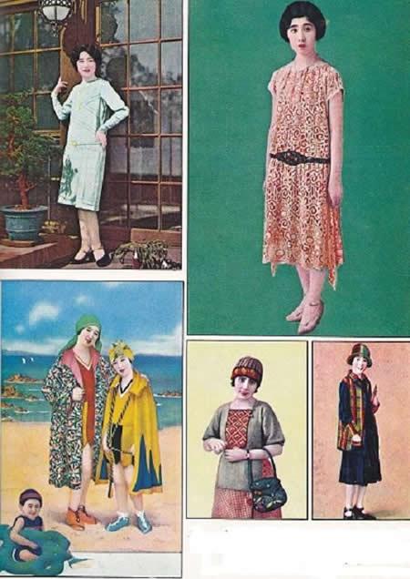 イラスト モガ モダンガール ファッション 昭和初期