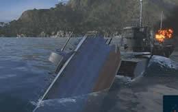 WoWS 駆逐艦 炎上 沈没中 サムネイル