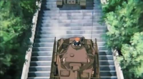 ガールズ&パンツァー あんこう 4号戦車 神社の石段を下るところ