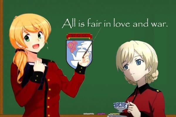 ガールズ&パンツァー エレン・ベーカー先生 ダージリン All is fair in love and war.