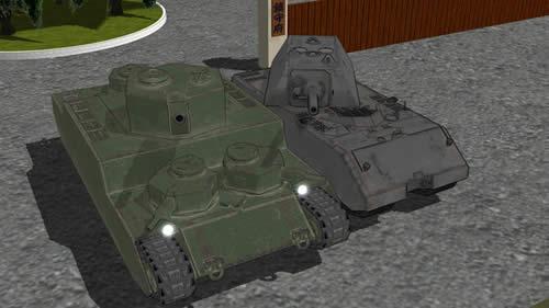 3Dモデル 重戦車 オイ車 マウス