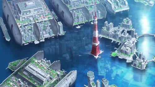 はいふり ハイスクール・フリート 東京水没 東京タワー
