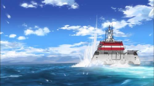 はいふり ハイスクール・フリート  インディペンデンス沿海域戦闘艦がモチーフ?の艦 02 魚雷命中