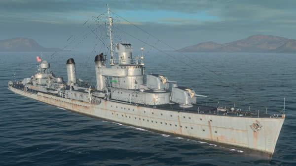 WoWS アメリカ Tier8 駆逐艦 ベンソン