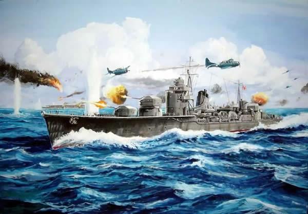 日本 防空駆逐艦 秋月 イラスト