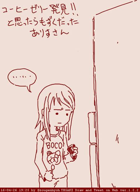 ガールズ&パンツァー 島田愛里寿 コーヒーゼリーだと思ったらもずくだった