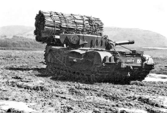 イギリス チャーチルⅦ 丸太装備