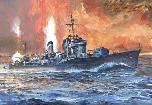 日本 駆逐艦 吹雪 砲戦 イラスト