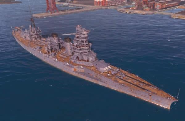 WoWS 日本 Tier4 戦艦 妙義 C船体