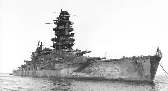 日本 戦艦 長門 満身創痍