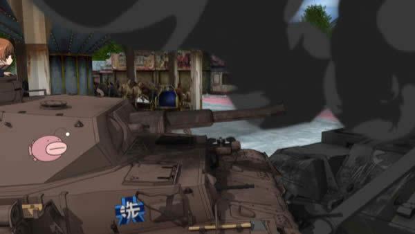 ガールズ&パンツァー 4号戦車 あんこうチーム 腔発?で砲身が破裂している