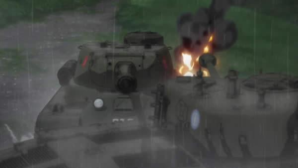 ガールズ&パンツァー IS-2 ノンナ 車体隠し状態