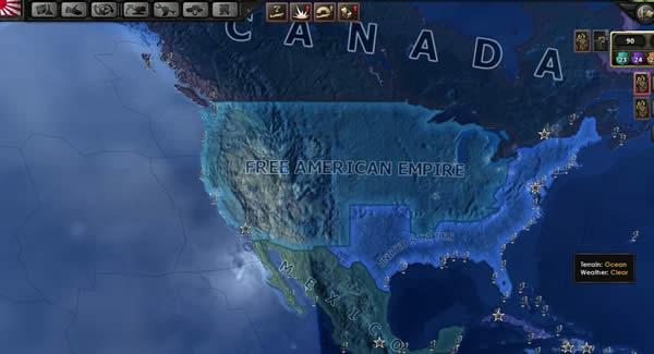 HoI4 アメリカ帝国 マップ