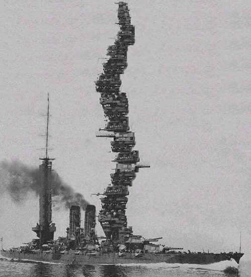 日本 戦艦 扶桑 艦橋 違法建築