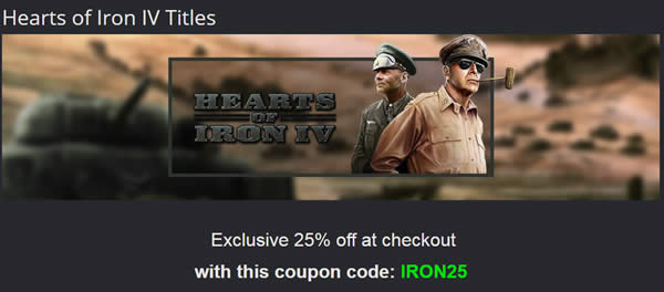 Hearts of Iron 4 25%オフ クーポン Green Man Gaming