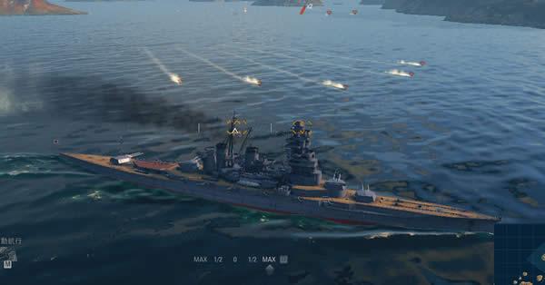 WoWS 魚雷 戦艦 命中コース