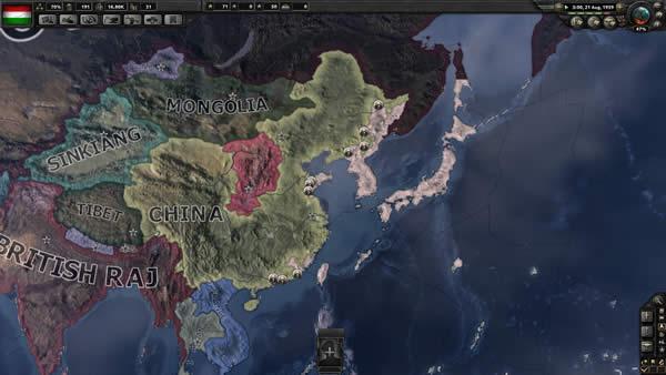 HoI4 日本 黄河渡れないどころじゃねえぞ