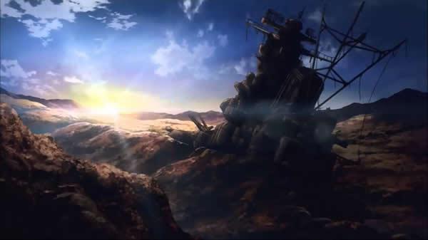 宇宙戦艦ヤマト 土に埋まって擬装