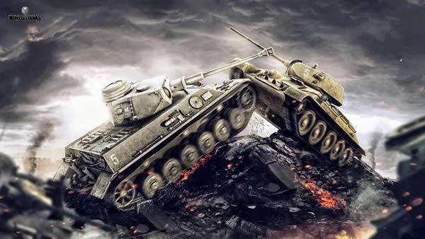 WoT 壁紙 戦車 衝突