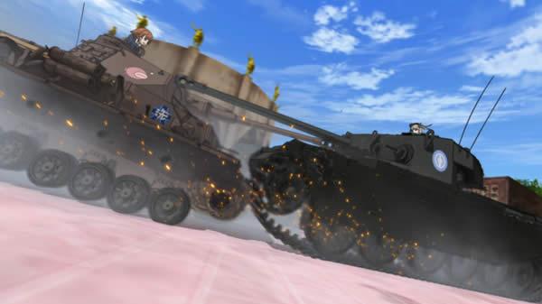 ガールズ&パンツァー 4号戦車 センチュリオン 衝突 こっつん作戦