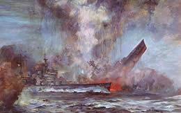 イラスト イギリス 巡洋戦艦 フッド 爆沈 サムネイル