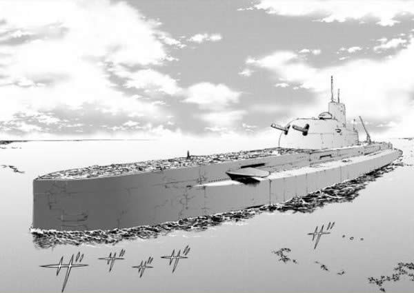 ガールズ&パンツァー マジノ女学院 学園艦 潜水艦