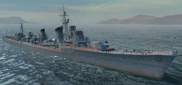WoWS 島風 日本 Tier10 駆逐艦