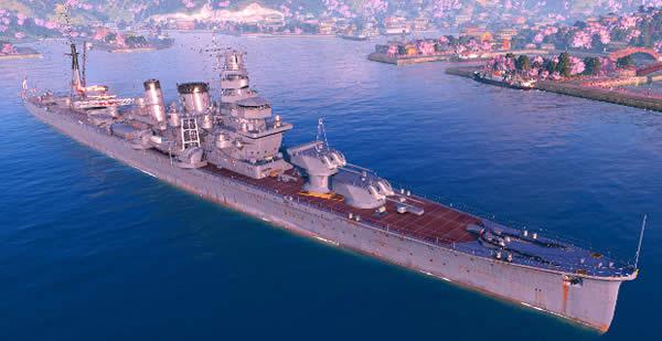 WoWS 古鷹 日本 Tier5 巡洋艦