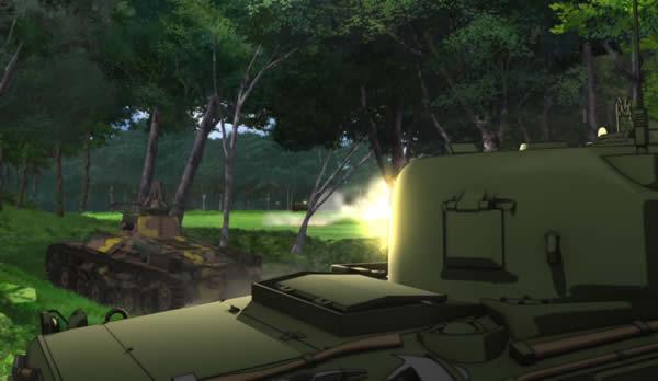 ガールズ&パンツァー M4シャーマン 機銃掃射