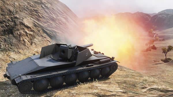 WoT ラインメタル・ボルジッヒ製ヴァッフェントレーガー Tier8 ドイツ 駆逐戦車